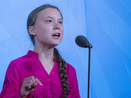 Greta Thunberg in profile
