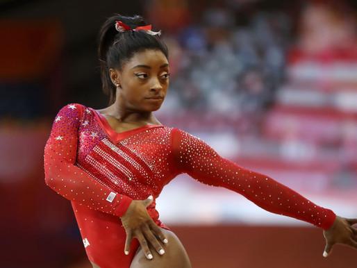 Simone Biles in profile