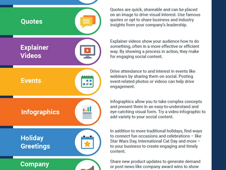 15 Types of Content to Rock your Social Media Posts [Infographic]
