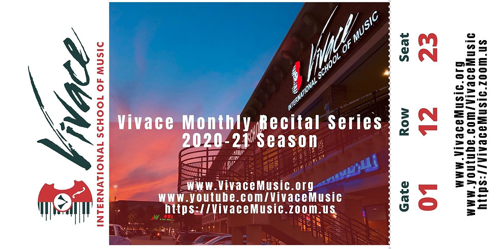 Vivace Monthly Recital Series | 2020-21 Season - XIB Cello