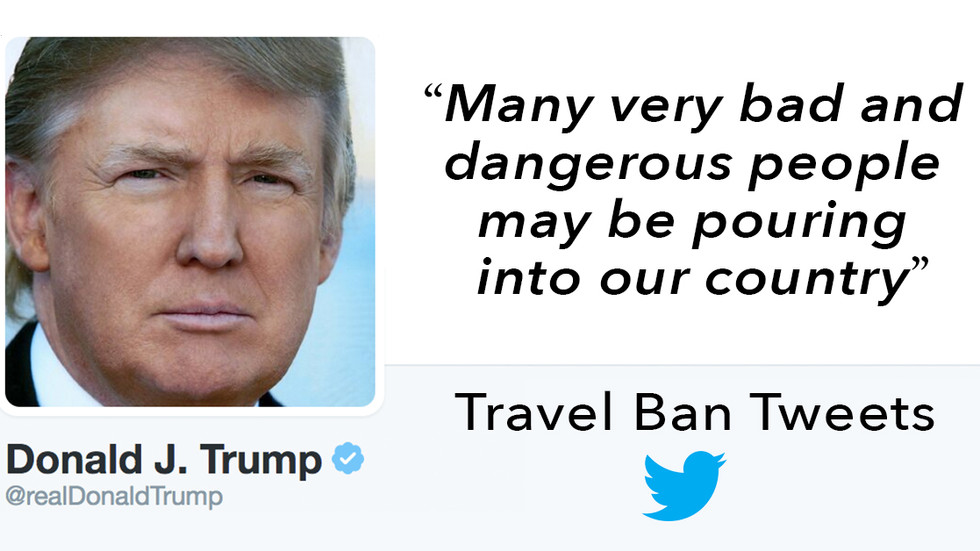 Trump's Fear Mongering VIA Twitter Intensifies After Travel Ban Lifted