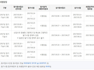 이용사자격증 2017년 시험일정 안내.
