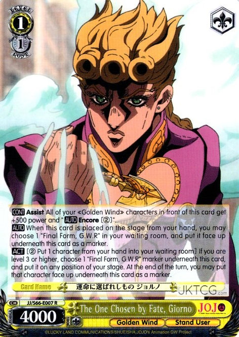 The One Chosen by Fate, Giorno