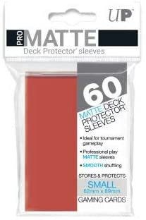 Pro Matte Card Sleeves (Small) Red 60ct.