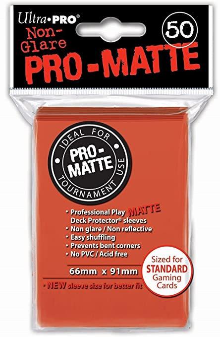 Pro Matte Card Sleeves (Standard) Peach 50ct.