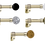 Thumbnail: Cosmos laiton vieilli, Ø 19 ou Ø 30mm, de 150cm à 400cm