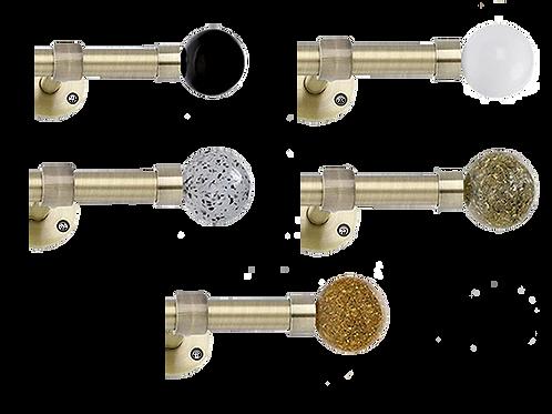 Cosmos laiton vieilli, Ø19 mm à Ø30 mm, de 150 à 400 cm