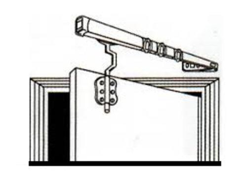 Tringle portière à affleurement contre coudé