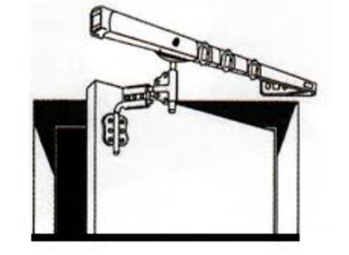 Tringle portière à renfoncement