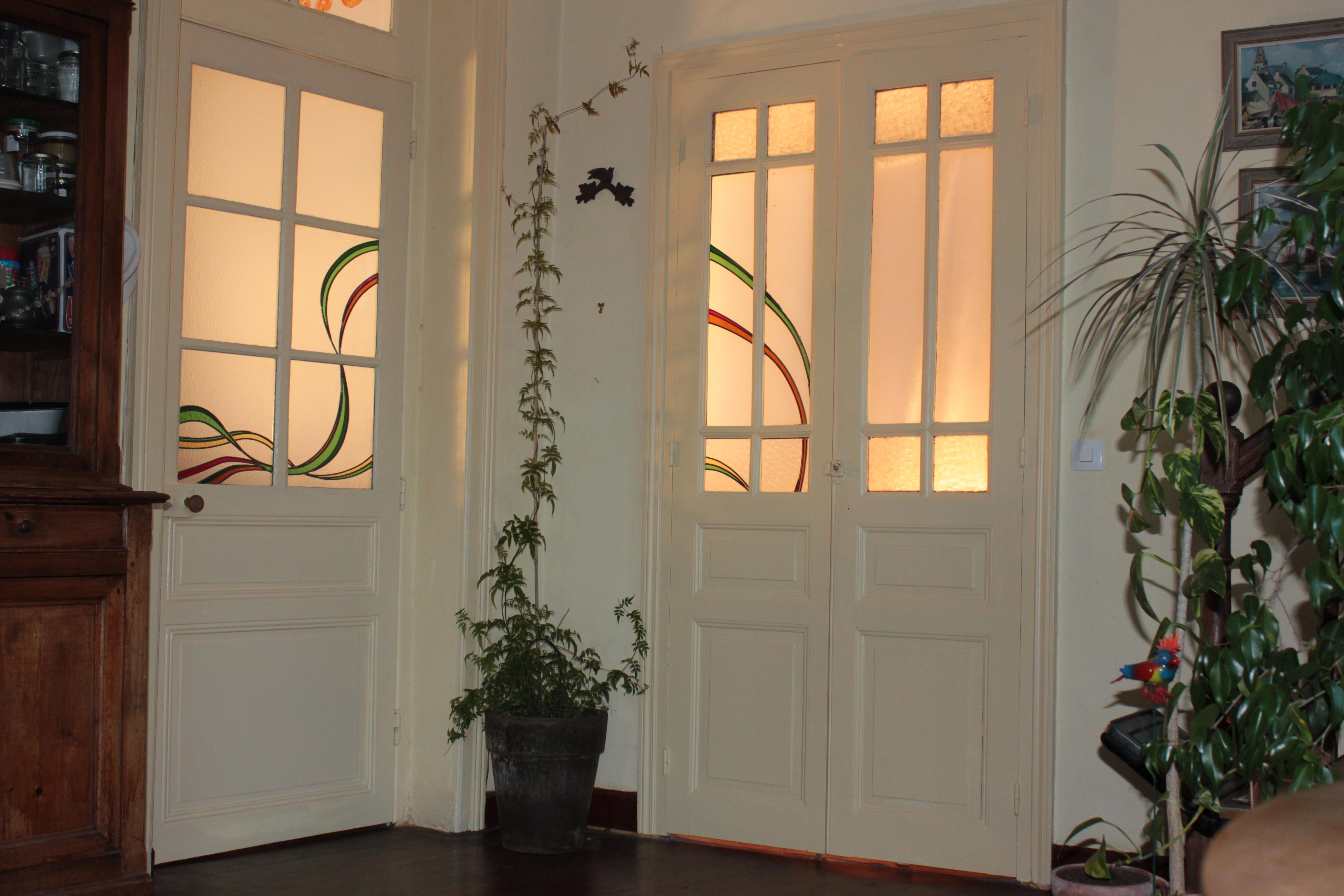 Vitraux dans une maison à Redon (35)