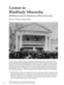 "Dr. Amma's journal article: ""Lessons in Blackbody Minstrelsy"""