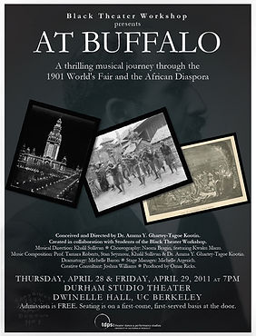 AT BUFFALO 2011 poster for the UC Berkeley workshop production