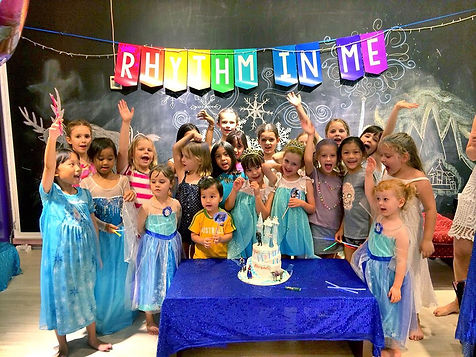 Frozen theme birthday party at Rhythm In Me