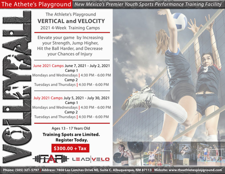 Volleyball Vertical and Velocity Camp co