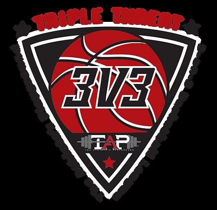 Triple Threat 3V3 Baketball League Logo Idea .png