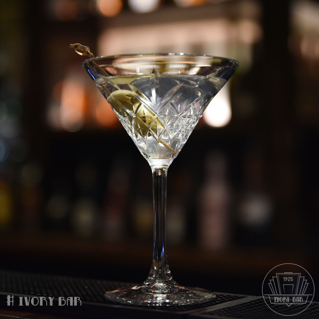 The Dirty Martini. Ivory Bar loves a classic, after all it's what we do best!
