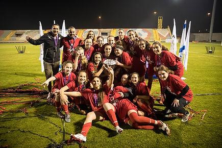 זכייה בגביע המדינה של קבוצת הנערות