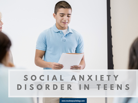 Social Anxiety Disorder in Teens