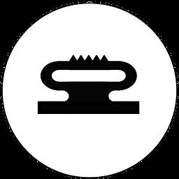 Vollprofil, Kantenschutzprofl, Kantenschutzprofile, Dichtungsprofile, Türprofile, Kammerprofil