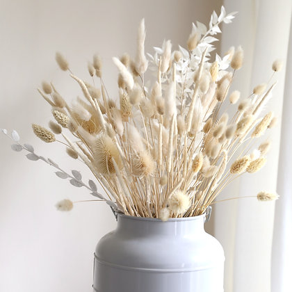 Dried Flower Bouquet - Ivory White
