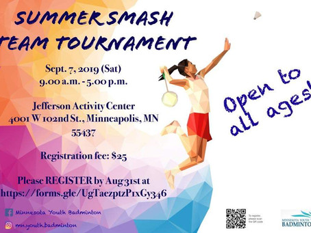 2019 Summer SMASH Badminton Team Tournament