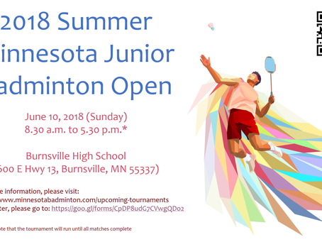 2018 Summer Minnesota Junior Badminton Open