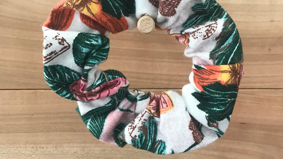 Butterfly Floral Scrunchie