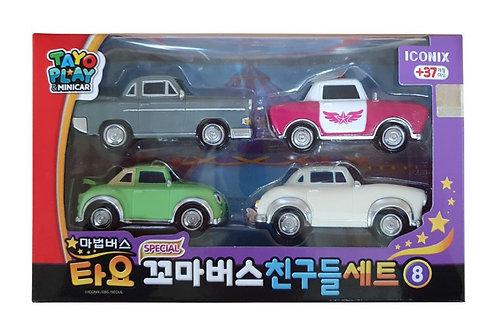 Набор ретро машинок из мультфильма Тайо маленький автобус