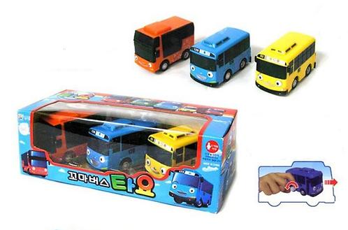 Набор из трех автобусов The Little Bus TAYO заводной