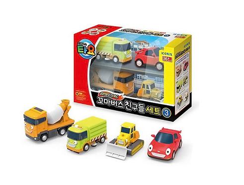 Набор строительных машинок + Спиди The Little Bus Tayo Friends