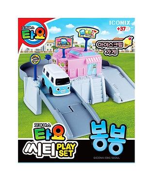 Игрушечный трек с автобусом Бонг-Бонг из мультфильма Тайо маленький автобус