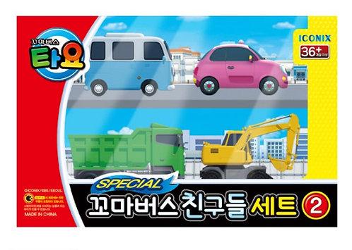 Набор машинок The Little Bus TAYO Friends с малышом Бонг-Бонг
