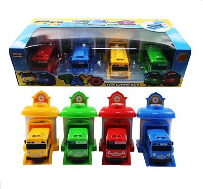Игровой набор  Тайо маленький автобус -  автобусы с гаражами TAYO