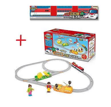 Игровой набор Железная дорога + поезд Титипо