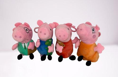 Свинка Пеппа - Семья из 4х героев по 15 см