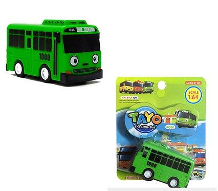 Зеленый автобус игрушка Роги с функцией прицепа TAYO
