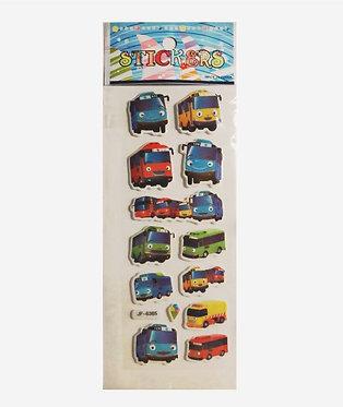 """Многоразовые наклейки стикеры """"Приключения Тайо"""""""