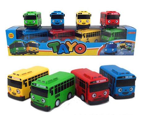 Игровой набор автобусов Приключения Тайо с прицепом TAYO