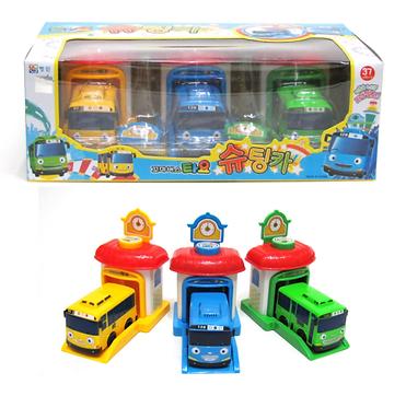 Игровой набор автобусов Тайо с гаражами Iconix