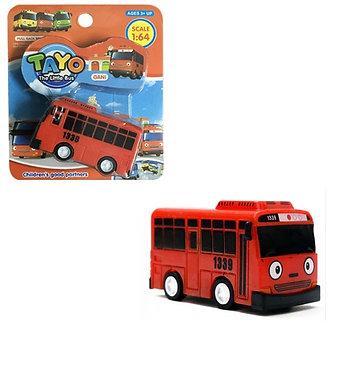 Автобус игрушка красный Гани с функцией прицепа