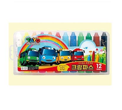 """Цветные карандаши (восковые) """"Маленький автобус Тайо"""""""