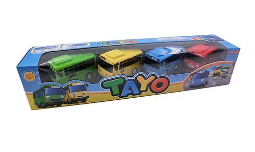 Набор из четырех автобусов  с прицепом TAYO