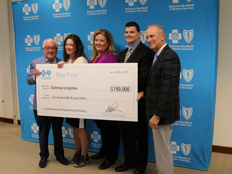 Gateway Longview Awarded $150,000 through BlueCross BlueShield of WNY Blue Fund