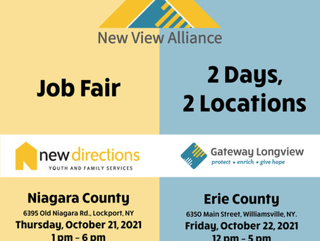 New View Alliance sets Job fair hiring event