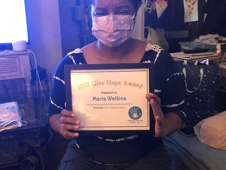 2021 Hope Award - Maria Watkins
