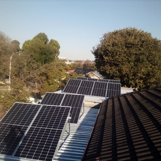 Tilted Metal Roof Mounted PV