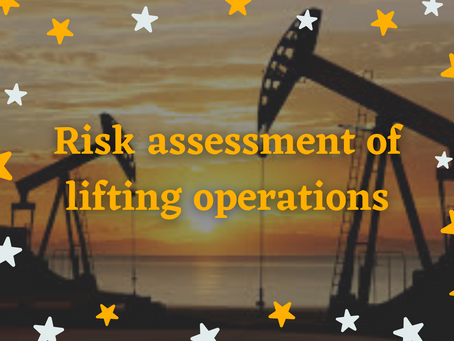 Risk assessment of lifting operations