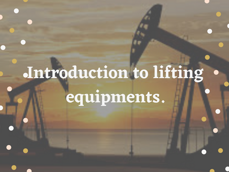 Introduction to Lifting Equipments.
