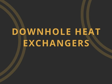 Downhole Heat Exchangers