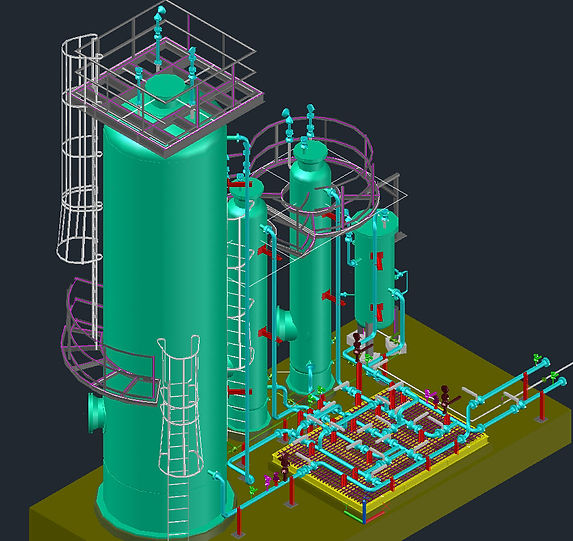 Feul Gas H2S Scrubber Skid   Design of Skid Packages